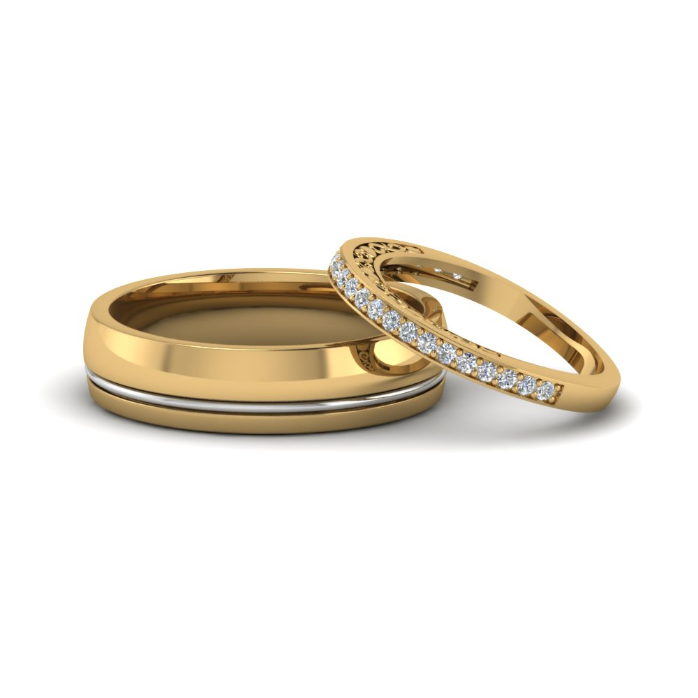 unique-matching-wedding-anniversary-bands-gifts-for-him-and-her-in-14K-yellow-gold-FD8079B-NL-YG