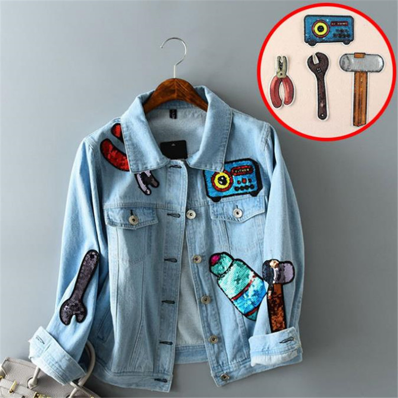 8_Girl-men-clothes-sequins-tool-patch-deal-with-it-14cm-hammer-wrench-iron-on-patches-for