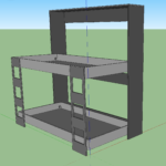 Steel Frame Double Bunk Beds